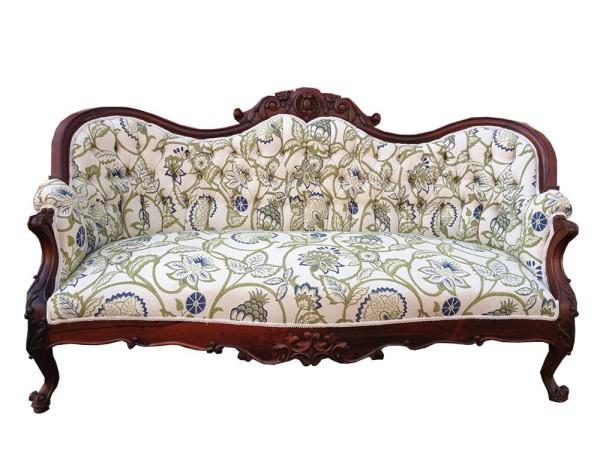 Marcel vintage floral sofa modern vintage mix for Modern victorian sofa
