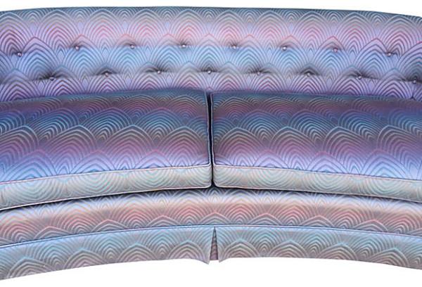 Modern Hollywood Regency Hollywood Regency Curved Sofa