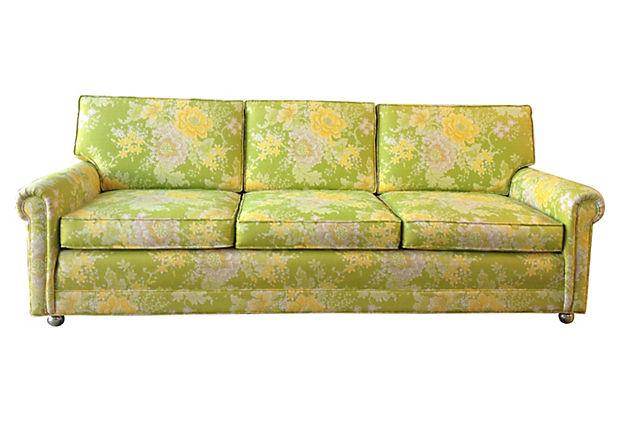 Floral Sofa Modern Vintage Mix