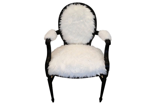 Sasha Faux Fur Armchair Modern Vintage Mix