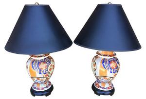 Asian Lamps, Pair