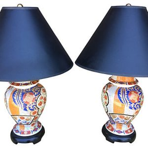 Asian Lamps, Pair