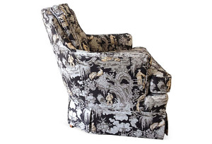 Asian Style Toile Club Chair
