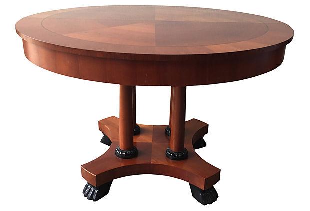 Baker Regency Style Dining Table - Modern Vintage Mix