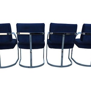 Milo Baughman Style Dining Chairs - Set of 4