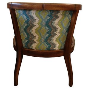 Elizabeth Caned & Upholstered Barrel Chair
