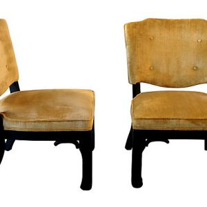 Chinese Low Chairs, Pair