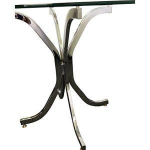 Milo Baughman Style Chrome Dining Table