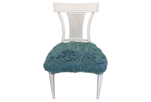 Faux Fur Side Chair