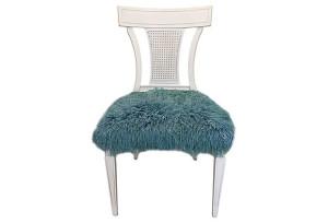 Faux Fur Side Chair