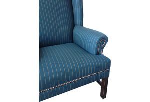 Flynn Flannel Pinstripe Wingback Chair