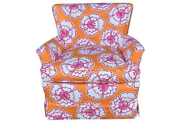 Good Floral Club Chair