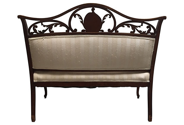 Hand Carved French Settee