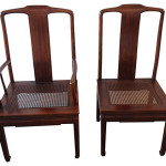 Henredon Asian Inspired Dining Chairs, S/8