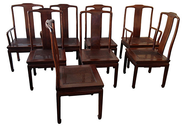 asian dining room chairs | Henredon Asian Inspired Dining Chairs, S/8 - Modern ...
