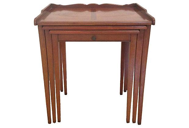 Henredon Mahogany Nesting Tables