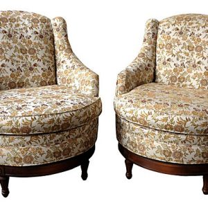 Heritage Fireside Swivel Chairs, Pair