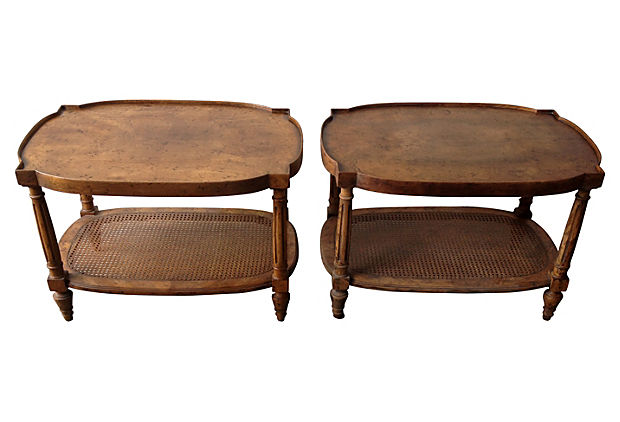 Heritage Side Tables, Pair