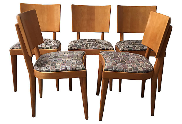 Heywood Wakefield Dining Chairs, S/6
