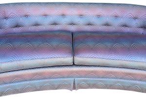 Hollywood Regency Curved Back Sofa