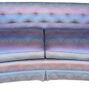 Hollywood Regency Curved Back Sofa