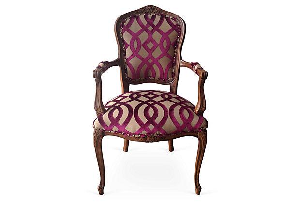 Hannah Hand Carved Italian Armchair