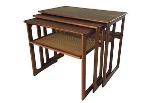 Walnut Side Tables, S/3