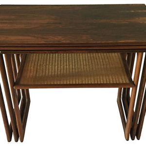 Walnut Side Tables, S/3