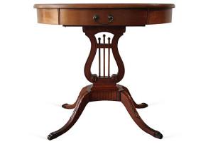 Mahogany Harp Table