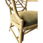 McGuire Rattan Dining Chairs, S/4