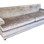 Mid Century Velvet Sofa
