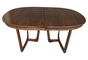 Mid Century Oval Dining Table