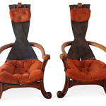 Sling Back Chairs, Pair
