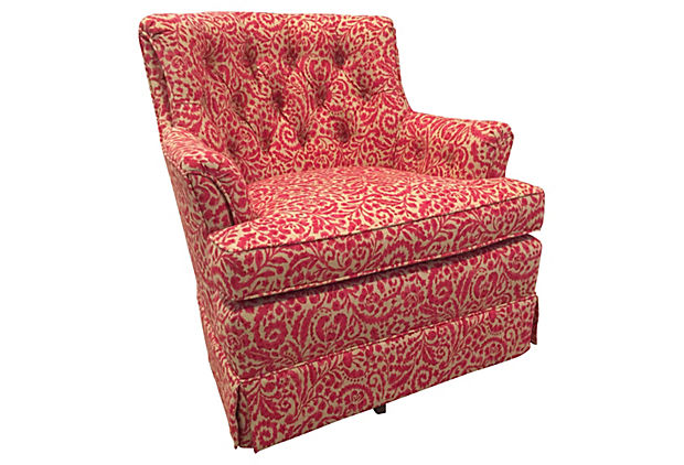 Woodmark Tufted Swivel Club Chair