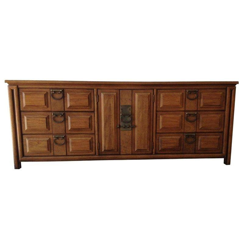 Asian Inspired Thomasville Credenza