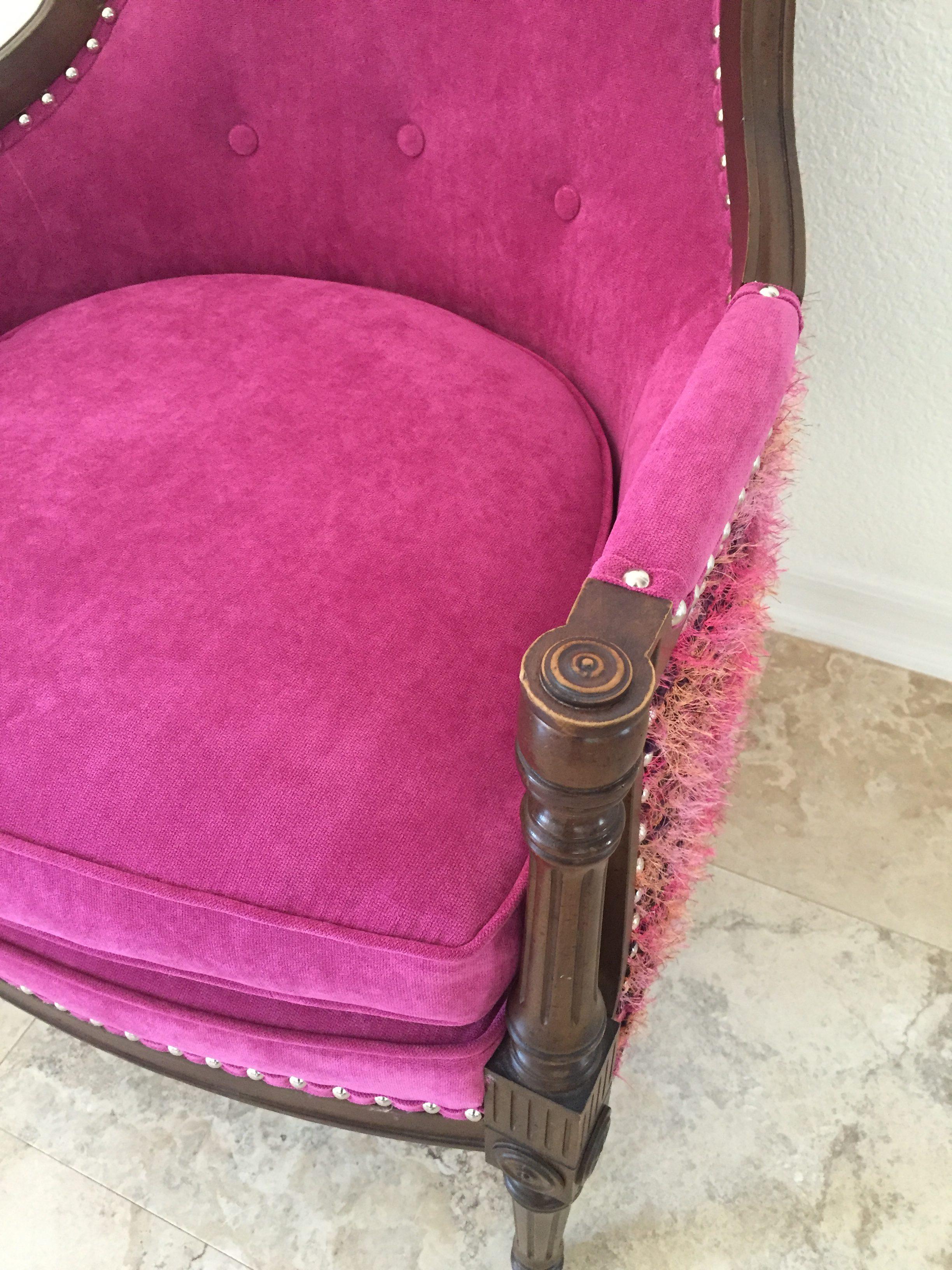 1940s Regency High Back Barrel Chair Modern Vintage Mix